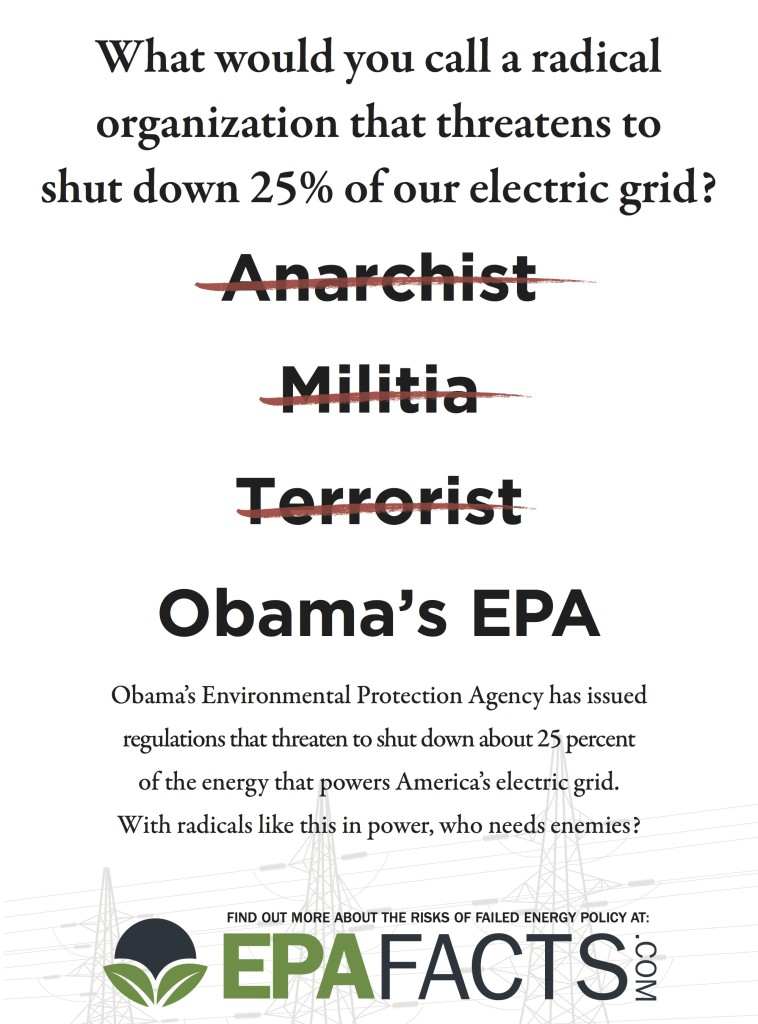 Obama's EPA (print ad) - USA Today/Politico - June 2014