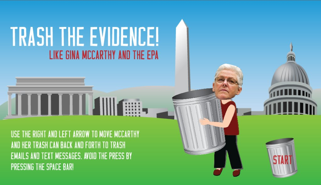 Interactive game that let's you trash the EPA evidence.